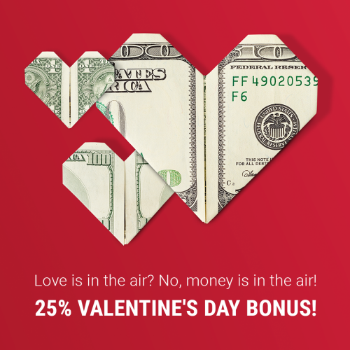 Extra 25% bonus with love from AMarkets !