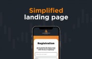 New simplified landing page