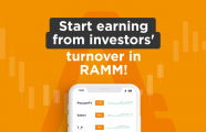 Start earning from investors' turnover in RAMM!